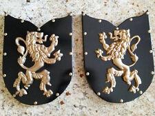 TWO, Shield, Medieval, Wall Decor, Lion, Fleur de Lis, Old World, Plaque, Art