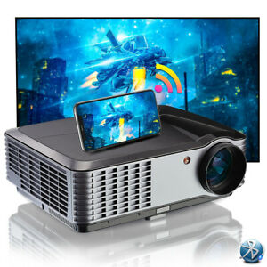 1080P FULL HD Android Projector WIFI Bluetooth Home Video Airplay Miracast HDMI