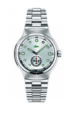 New Authentic LACOSTE Watch Tie Break Stainless Steel with White Dial