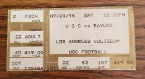 USC Trojans Baylor Bears Football Ticket Stub 9/24 1994 Keyshawn Johnson Walters