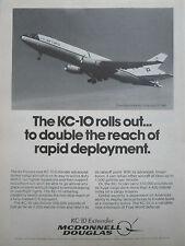 8/1980 PUB MCDONNELL DOUGLAS KC-10 EXTENDER FIRST FLIGHT USAF US AIR FORCE AD
