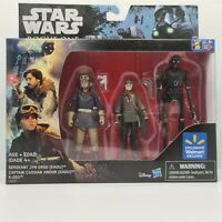 Star Wars Rogue One Walmart Exclusive Jyn Erso, Cassian Andor, K-250