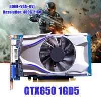Eg _ GTX650 1GB 128BIT HDMI DVI VGA Jeu Carte Graphique Vidéo pour Nvidia PC Jeu