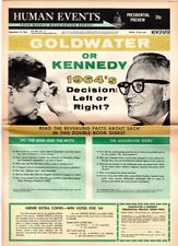 1963 John F Kennedy VS Barry Goldwater Campaign Newspaper