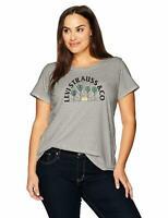 (NWT) Women's Levi's Gray Cotton LOGO T-Shirt Plus Sizes 2X or 3X