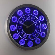 nc0945-b Circle of Fifths Guitar Music Neon Sign LED Wall Clock
