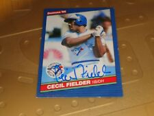 Cecil Fielder Autographed Card JSA Auction Certified