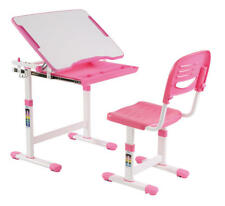 PrimeCables® Adjustable Children's Study Desk Chair Set Child Kids Table, Pink