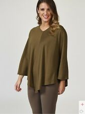 Kim & Co Soft Touch V Neck Poncho Mocca Size S / M BNWT NEW