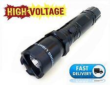 Black 990 Million Volt Self Defense Rechargeabe Stun Gun 1101 + taser case
