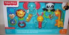 Fisher Price Playful Animal Pals Gift Set Baby Toys Rattles New