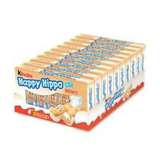 KINDER HAPPY HIPPO BOX ( 10 x 5pz ) HAZELNUT NOCCIOLA SNACK BISCOTTO FERRERO