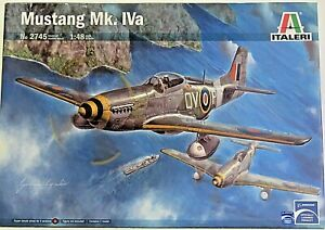 Italeri 2745 plastic plane kit MUSTANG Mk. IVa 1:48 Decals for 4 versions New