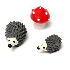 3pcs Miniature Plant Pots Bonsai Craft Micro Landscape DIY Hedgehog Mushroom HY