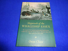 SHIPWRECK OF THE WHALESHIP ESSEX  BY  OWEN CHASE -  PB BOOK!!