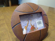 """Basket Ball Ceramic Picture Frame - 7 1/4"""" round, Picture size 5"""" x 3.5"""""""