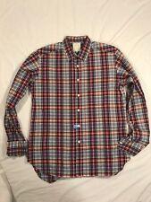 Men's Billy Reid Fit 2 100% Cotton Button-Front Long Sleeve Multi Plaid Size L