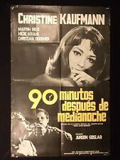 TERROR AFTER MIDNIGHT * CHRISTINE KAUFMANN * 1962 ARGENTINE 1sh MOVIE POSTER
