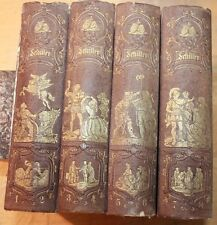 SCHILLER'S WERKE 1867 VOLUMES 1-8 GERMAN LANGUAGE works of Friedrich