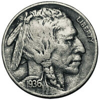 "1936 S ""BUFFALO"" NICKEL,""Stock Photo""  *FINE OR BETTER*   **FREE SHIPPING**2877"