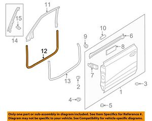 AUDI OEM 12-16 A7 Quattro Front Door-Weatherstrip Seal on Body 4G8831707A