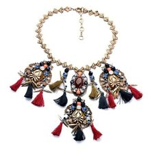 BEAUTIFUL BLOGGERS FAV DESIGN TASSELS STATEMENT NECKLACE – NEW