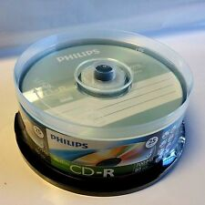 25 Philips Logo Music CD-R Blank Disc Media 80Min Digital Audio CDR DA