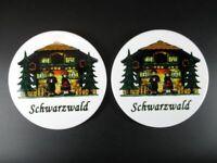 Untersetzer Schwarzwald Black Forest Coaster 2 Stück Souvenir Germany,NEU