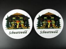 Coasters Black Forest Black Forest Coaster 2 Piece Souvenir Germany, New