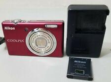 Nikon COOLPIX S570 12.0MP Digital Camera - Red *GOOD/TESTED*