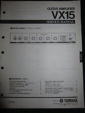 Yamaha Guitar Amplifier Vx15 Service Shop Manual Schematics Part List 1983