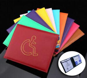 Disabled Blue Badge Holder Hologram Safe Parking Permit Display Cover Wallet -UK