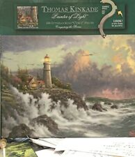 """Thomas Kincade Puzzle """"Conquering the Storms"""" 500 Curly Interlocking Pieces Used"""