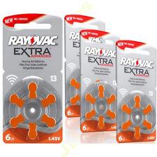 6 x RAYOVAC 13 DA13 A13 ORANGE Hearing Aid Batteries  ZA13 13au AC13E ME8Z L13ZA