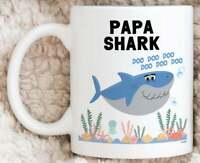 Papa Shark Mug For Papa Gifts For Papa Mug Funny Fathers Day Gifts Best Papa Mug