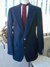 VINTAGE 1940/50's Men's ROYAL BLUE 100% Cashmere Blazer Sport Coat JACKET 44-48