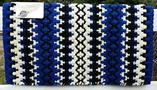 Mayatex Wool Show Saddle Blanket Pad 34x40 Royal Blue Black White THICK Horse