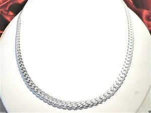 """mens/womens 6mm Miami Cuban chain necklace 24"""" 925 sterling silver"""