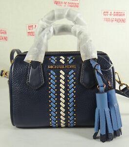 Michael Kors Bedford Pebbled Leather Signature XS Duffle Crossbody Bag