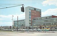 NJ East Paterson ELMWOOD SHOPPING CTR Grand Union Vintage Autos postcard B10