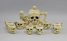Porzellan Ernst Bohne Tee-/Kaffee- Service Totenkopf  Kanne12x22cm 9941738