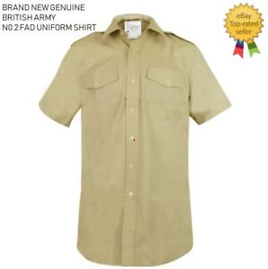 Genuine British Army No2 FAD Uniform Military Dress Shirt All Ranks Fawn New