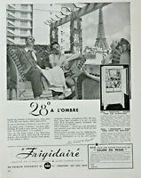 PUBLICITÉ DE PRESSE 1934 RÉFRIGÉRATEUR FRIGIDAIRE - TOUR EIFFEL
