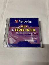 Verbatim AZO DVD+R DL 8.5GB 8x Branded Double Layer Recordable 5 Discs