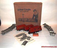 IVES Prewar O Gauge 501 Passenger Set! 3250 Locomotive! 1925! Collector Grade PA