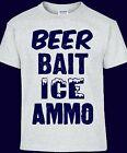Redneck Shopping List, Beer Bait Ice Ammo Vintage Sign T-shirt
