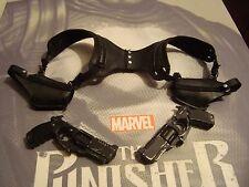 SIDESHOW 1/6 THE PUNISHER ----shoulder harness w/ holster & pistols - US SELLER