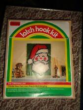 New listing Vintage 1979 Yarn Kits Hi Lo Santa Latch Hook Rug Or Wall Hanging Kit