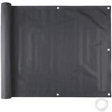 Balkonbespannung Sichtschutz Windschutz Sichtblende Blende LxB 6x 0,9m schwarz