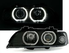 2 FEUX PHARE AVANT ANGEL EYES LED BLANC BMW SERIE 5 E39 PHASE 1 95-2000 AU XENON